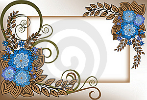 Frame Of Blue Flowers Royalty Free Stock Photos - Image: 19496138