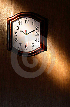 Clock And Beam Of Light Royalty Free Stock Photography - Image: 19498047