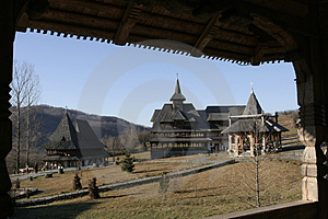 Wooden Buildings On The Monastery Royalty Free Stock Image - Image: 1951166