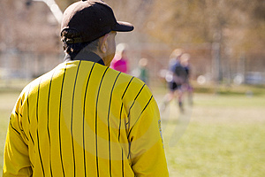 Soccer Official Watching Game Stock Photos - Image: 1953253