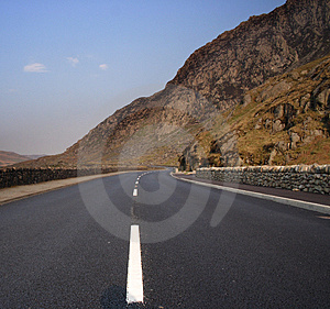 Empty Road In Snowdonia Royalty Free Stock Images - Image: 1956729