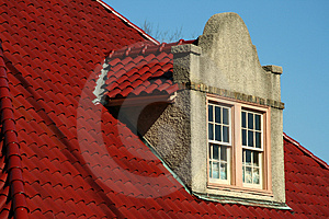Spanish Tile Dormer Roof Royalty Free Stock Photography - Image: 1958137