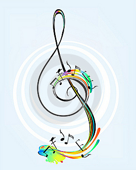 Decorative Treble Clef Royalty Free Stock Image - Image: 19501136