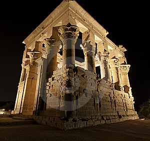 Kiosk Of Trajan At The Temple Of Isis Royalty Free Stock Image - Image: 19502226