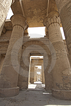 Columns In The Temple Of Kom Ombo Royalty Free Stock Photos - Image: 19502448