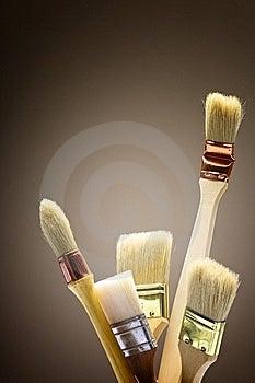 Paintbrush In Studio Royalty Free Stock Photography - Image: 19502897