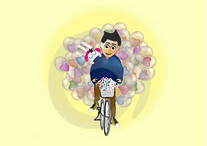 Man Carries Balloon Stock Image - Image: 19502981