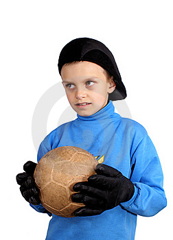 The Young Goalkeeper Royalty Free Stock Images - Image: 19511289