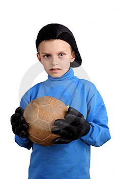The Young Goalkeeper. Royalty Free Stock Photo - Image: 19511305