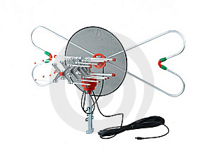 Television Antenna Isolated  Stock Photography - Image: 19514042