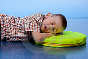 Cute Boy Sleeping On A Pillow Stock Images - Image: 19515914