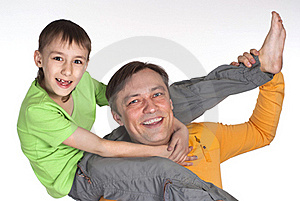 Happy Dad And  His Son Stock Photography - Image: 19516202