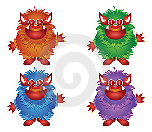 Hairy Monster Royalty Free Stock Photos - Image: 19517428