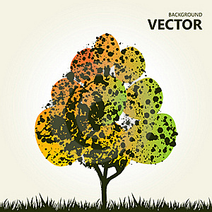 Abstract Colorful Tree Background Stock Photos - Image: 19517703