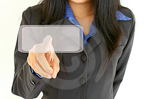 Business Woman Touch Digital Interface Royalty Free Stock Photography - Image: 19520027