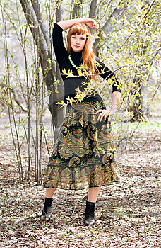 Full Length Portrait Of A Beautiful Woman Outdoor Stock Photos - Image: 19520643