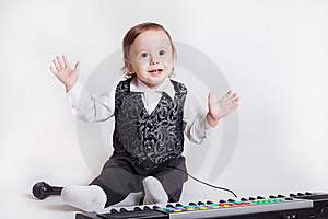 Little Musician Royalty Free Stock Photography - Image: 19524517