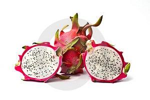 Fresh Dragon Fruit Isolated On White Background. Royalty Free Stock Photos - Image: 19526758