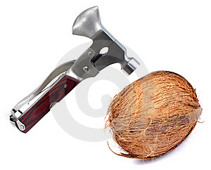 Breaking Coconut Royalty Free Stock Photo - Image: 19527595