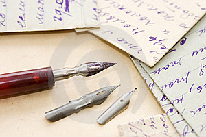 Old Letters And Pen Royalty Free Stock Photo - Image: 19527645