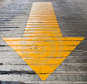 Yellow Arrows Pointing Down Royalty Free Stock Photos - Image: 19528218