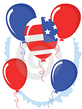 Independence Day,balloons Royalty Free Stock Photos - Image: 19528738