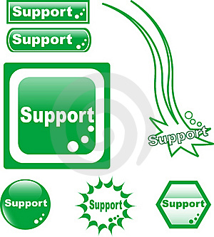 SUPPORT Button Web Glass Icon Royalty Free Stock Photography - Image: 19531417