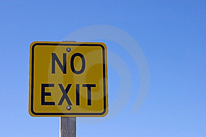 No Exit Stock Images - Image: 19533474