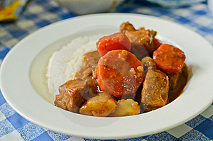 Japanese Style Curry Rice Stock Photography - Image: 19534482