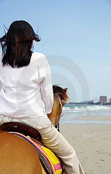 Young Woman Riding A Horse Royalty Free Stock Photo - Image: 19536445