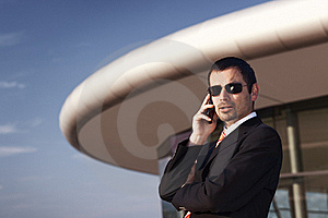 Business Executive On Phone. Royalty Free Stock Image - Image: 19537426