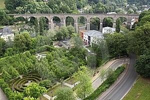 Railway Bridge In Luxembourg Stock Image - Image: 19538301