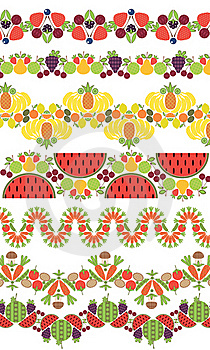 Ornament. Fruit Berries And Vegetable Stock Image - Image: 19540101