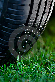 Wheel On The Grass Royalty Free Stock Photography - Image: 19542327