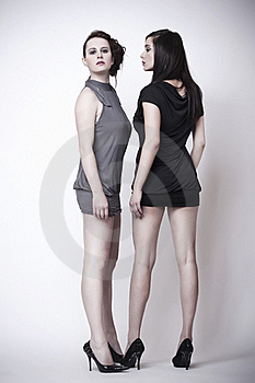 Fashion Image Of Two Beautiful Young Women Stock Images - Image: 19543794