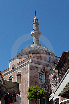 Mosque Of Suleiman The Magnificent In Rhodes Royalty Free Stock Photography - Image: 19544287