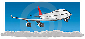Flying Jumbo Jet Royalty Free Stock Image - Image: 19544806