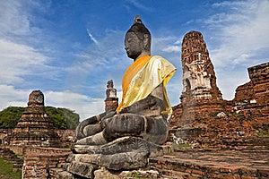 Sitting Buddha Royalty Free Stock Photos - Image: 19545308