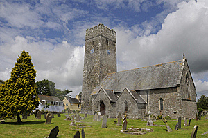 Lamphey Church Stock Photo - Image: 19551350