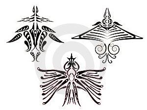 Tattoos Of Fantastic Birds. Stock Photo - Image: 19551420