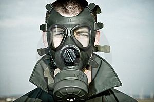 Bizarre Portrait Of Man In Gas Mask Royalty Free Stock Photos - Image: 19553948