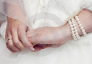 Bride's Hands Stock Photos - Image: 19554043