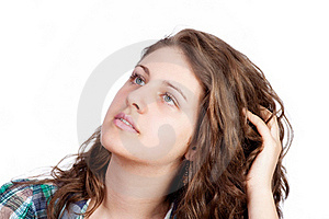 Smiling Woman Portrait On White Background Stock Photography - Image: 19554072