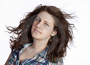 Woman With Long Flying Hair Royalty Free Stock Photos - Image: 19554118