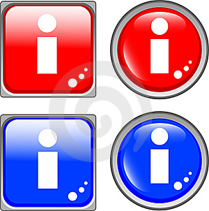 Info Glossy Web Button Stock Image - Image: 19554281