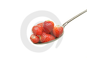 Strawberries In Spoon Royalty Free Stock Photos - Image: 19554298
