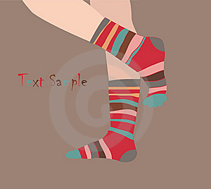 Striped Socks Stock Images - Image: 19554304