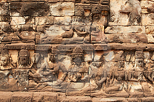 Relief Angkor Stock Photo - Image: 19554670