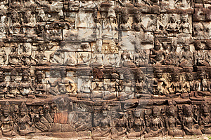 Relief Angkor Stock Photo - Image: 19554680