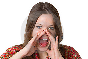 Screaming Young Woman Royalty Free Stock Images - Image: 19554939